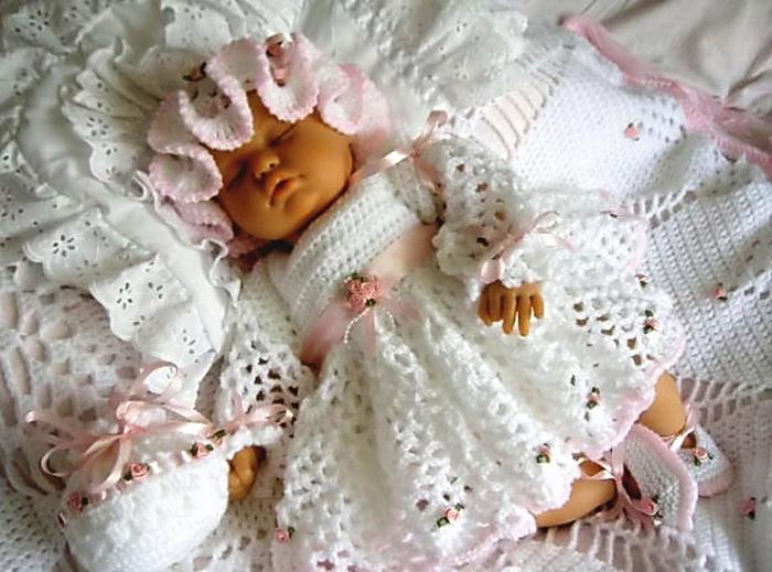 Вязание для новорожденных девочек крючок 36