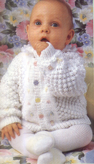 вязание кофты для ребенка до полу года вязание кофточек схемы